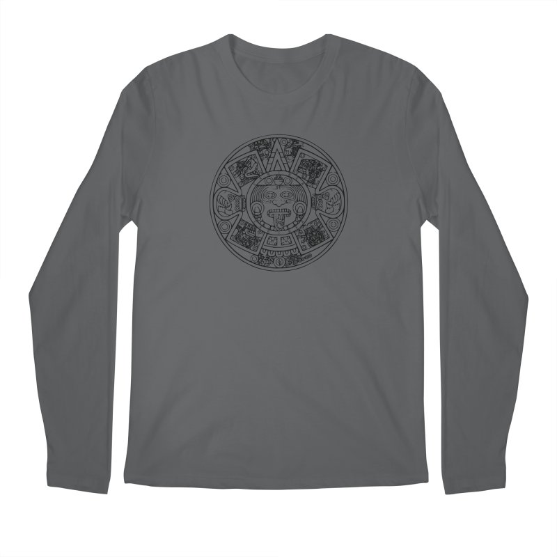 Sun God Black Men's Longsleeve T-Shirt by Caribea