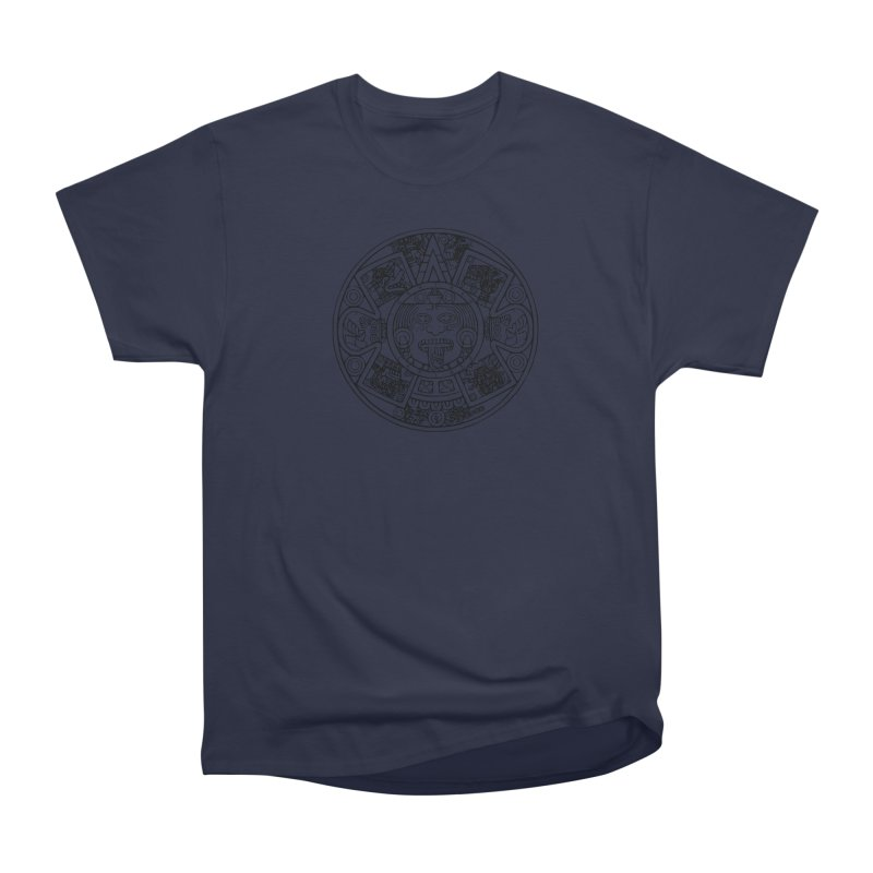 Sun God Black Men's Heavyweight T-Shirt by Caribea