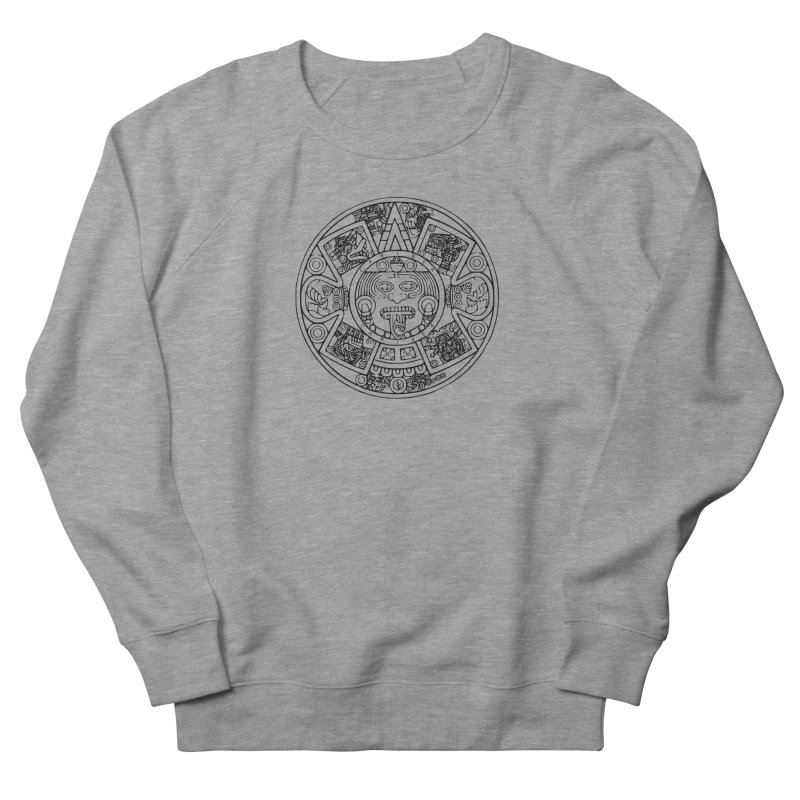 Sun God Black Men's French Terry Sweatshirt by Caribea