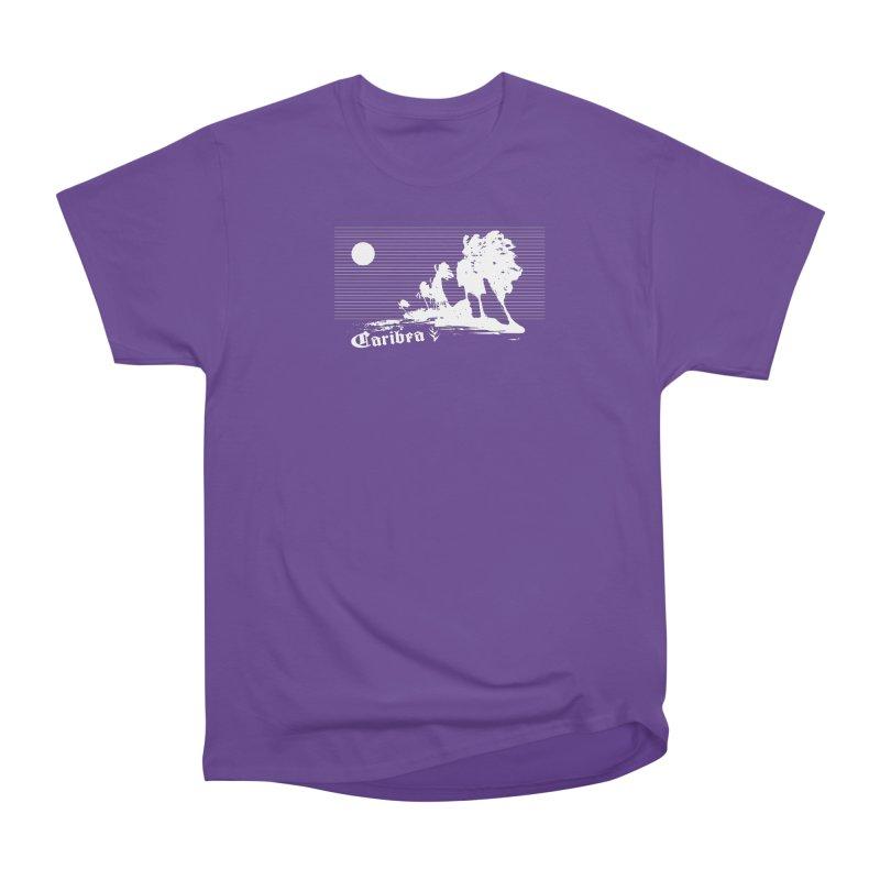 Wind Beach White Women's Heavyweight Unisex T-Shirt by Caribea