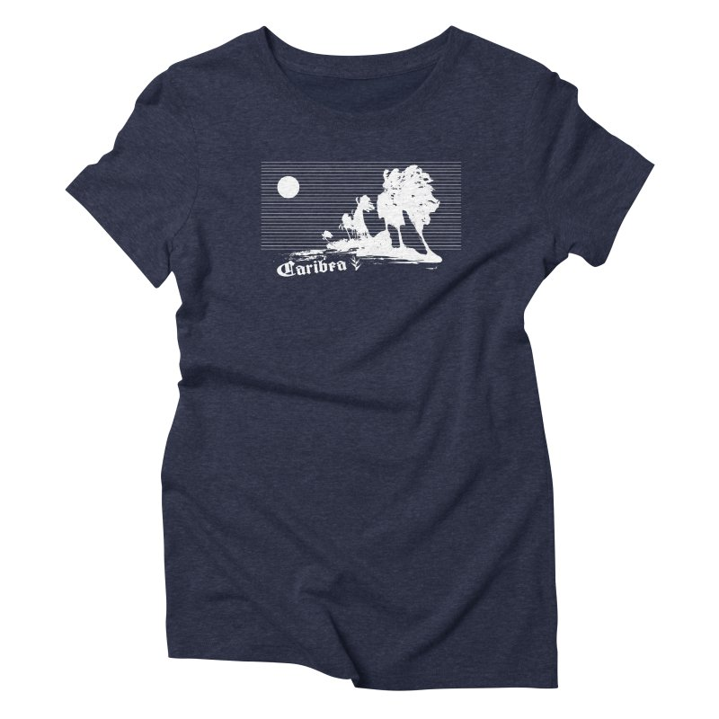 Wind Beach White Women's Triblend T-Shirt by Caribea