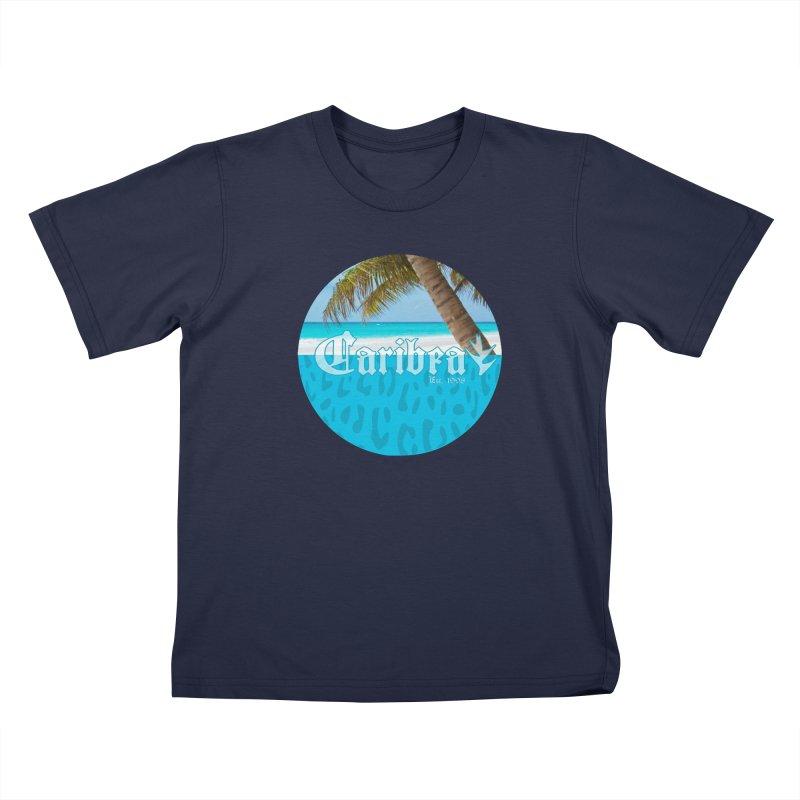 Animal Beach Blue Kids T-Shirt by Caribea