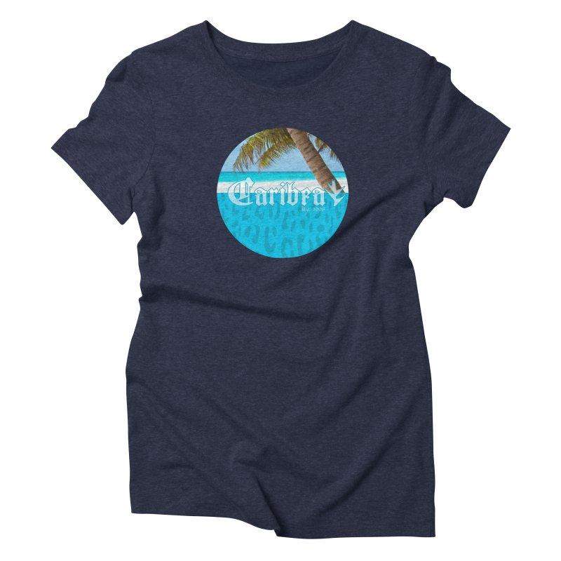 Animal Beach Blue Women's T-Shirt by Caribea