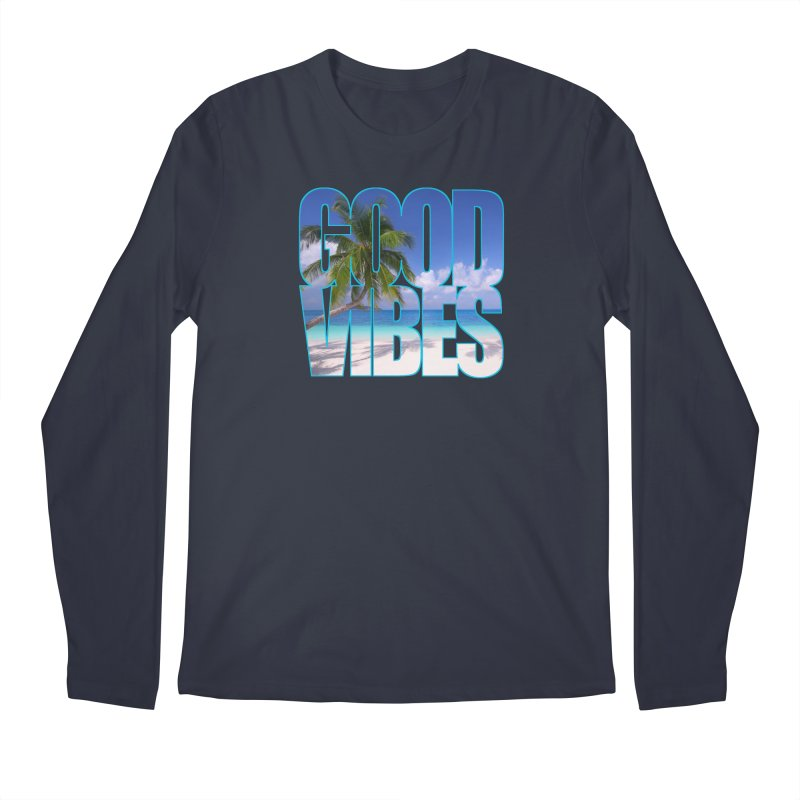Good Vibes Men's Regular Longsleeve T-Shirt by Caribea