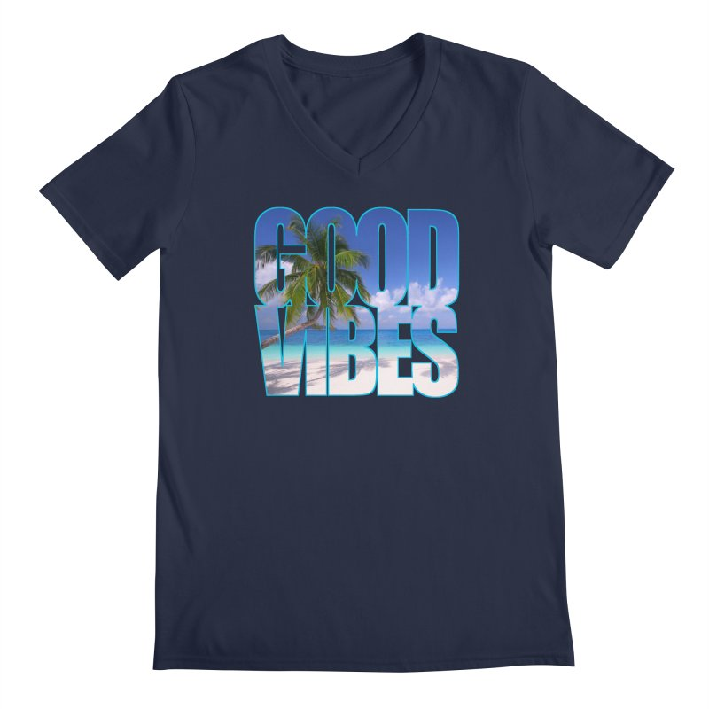 Good Vibes Men's Regular V-Neck by Caribea