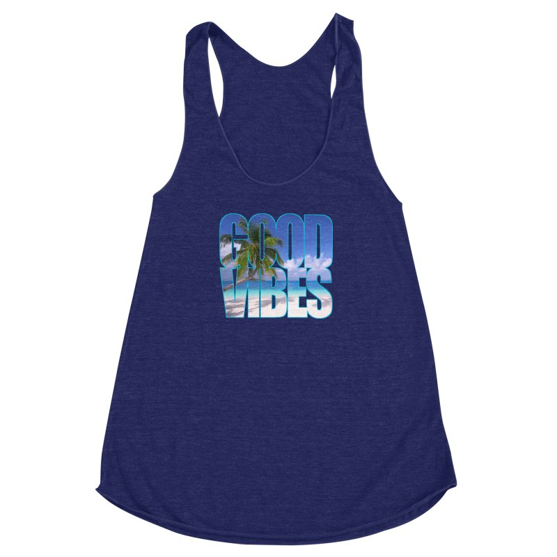 Good Vibes Women's Racerback Triblend Tank by Caribea