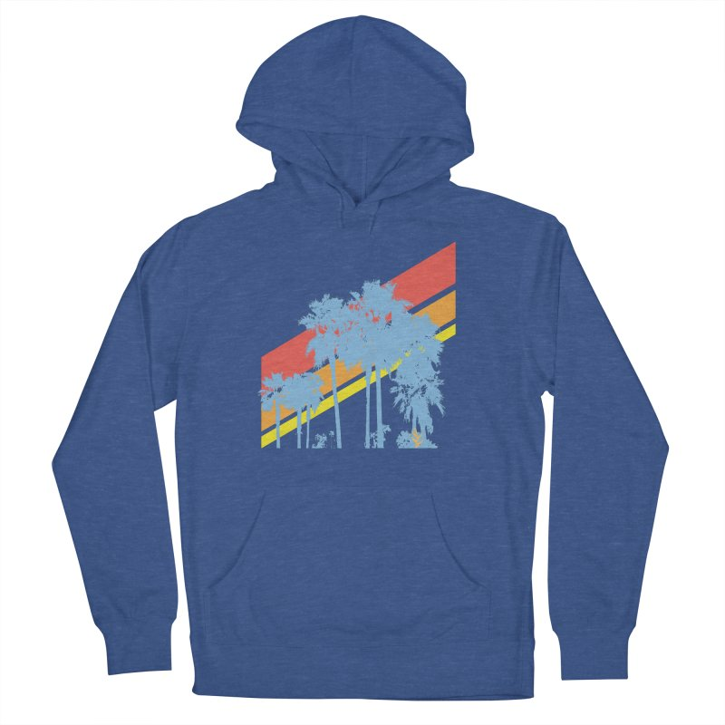 Palm Sunset Blue Women's Pullover Hoody by Caribea
