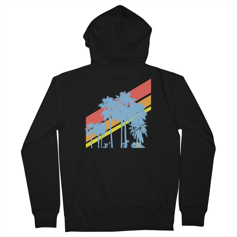 Palm Sunset Blue Men's Zip-Up Hoody by Caribea