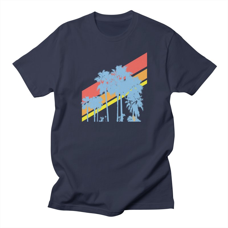 Palm Sunset Blue Men's T-Shirt by Caribea