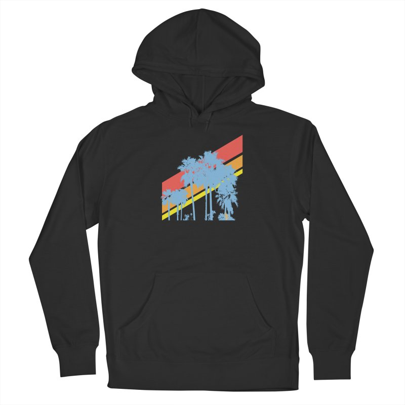 Palm Sunset Blue Men's Pullover Hoody by Caribea
