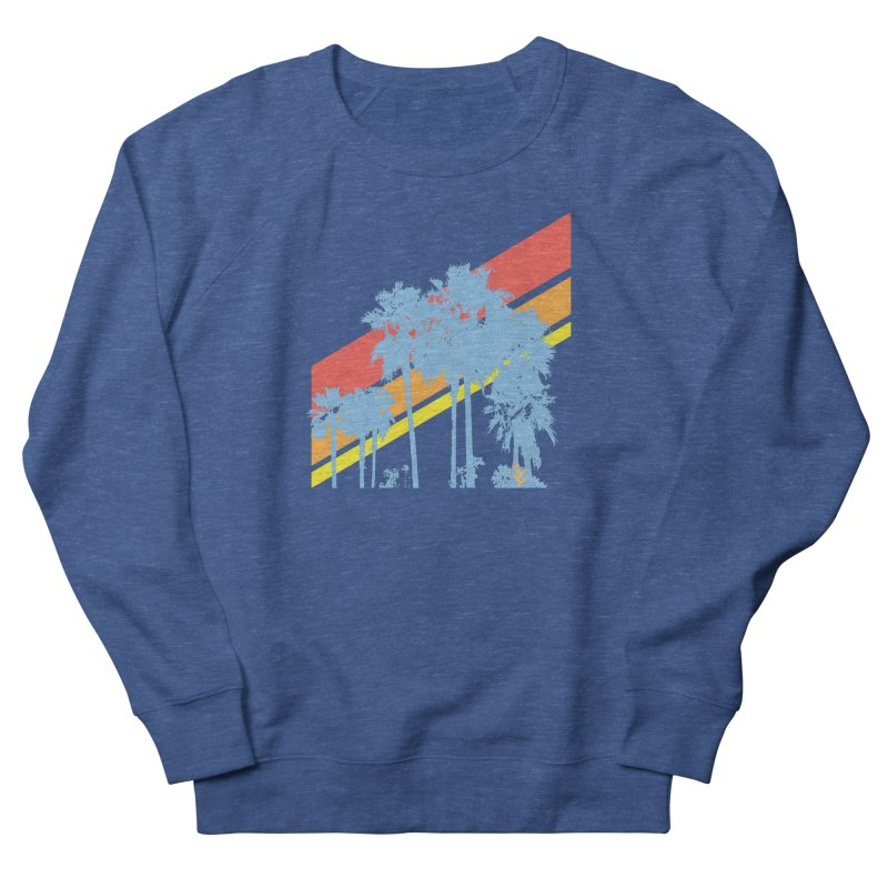 Palm Sunset Blue Women's Sweatshirt by Caribea