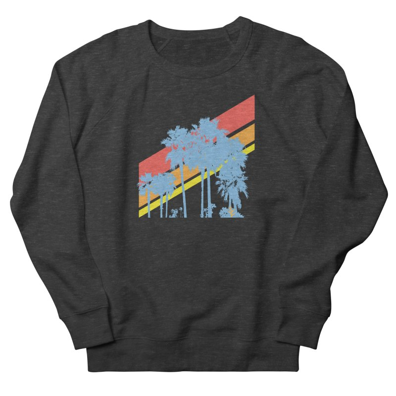 Palm Sunset Blue Men's French Terry Sweatshirt by Caribea