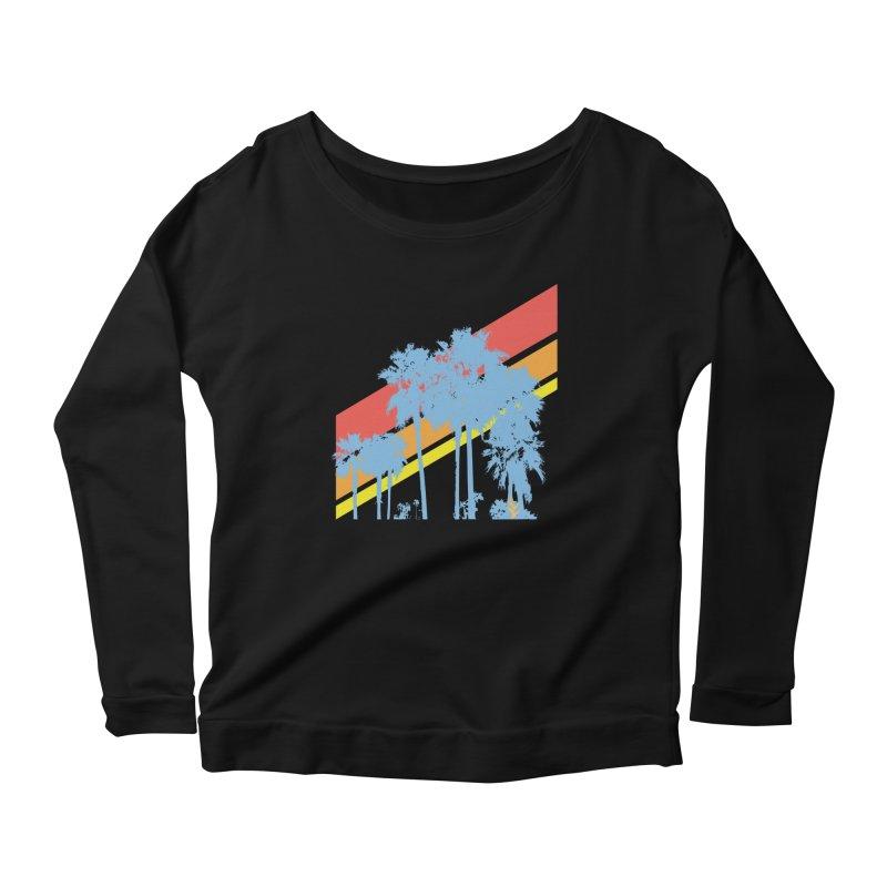 Palm Sunset Blue Women's Longsleeve T-Shirt by Caribea