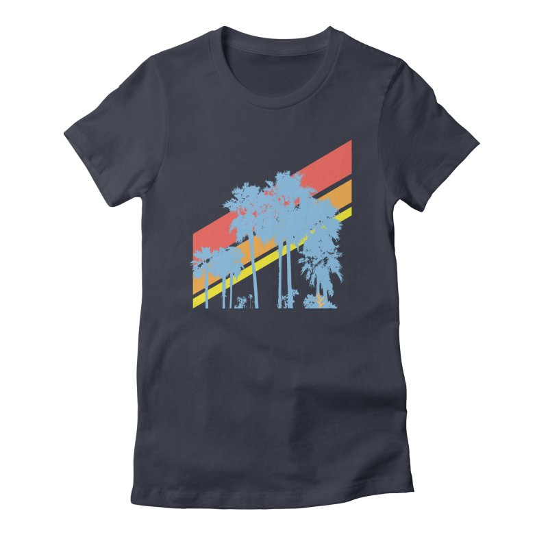 Palm Sunset Blue Women's T-Shirt by Caribea