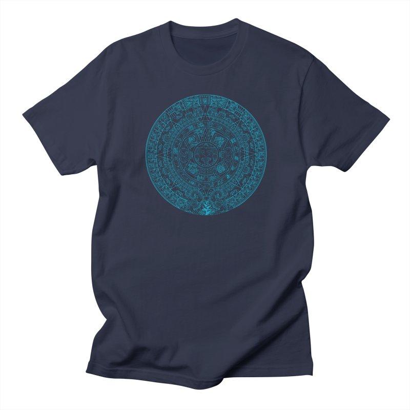 Mayan Calendar Aqua Men's T-Shirt by Caribea