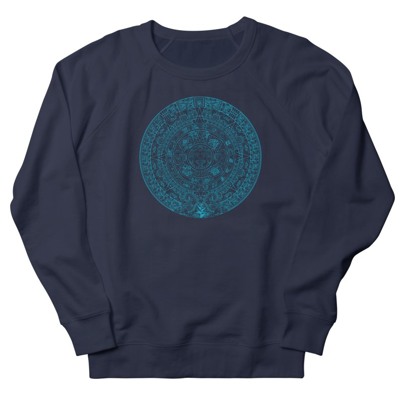 Mayan Calendar Aqua Men's Sweatshirt by Caribea