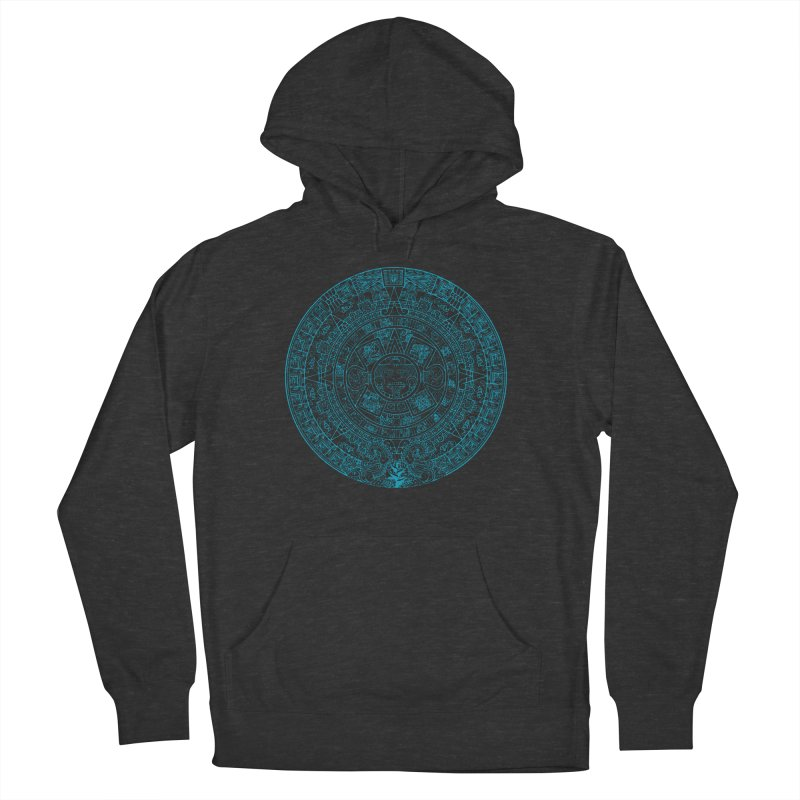 Mayan Calendar Aqua Women's French Terry Pullover Hoody by Caribea