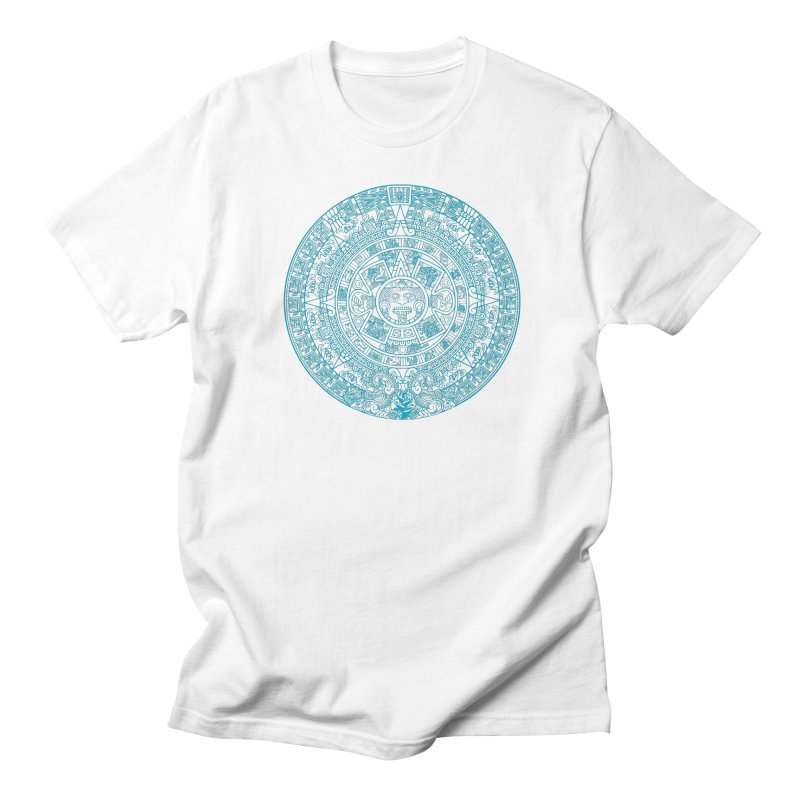 Mayan Calendar Aqua Men's Regular T-Shirt by Caribea