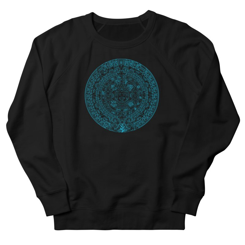 Mayan Calendar Aqua Women's French Terry Sweatshirt by Caribea