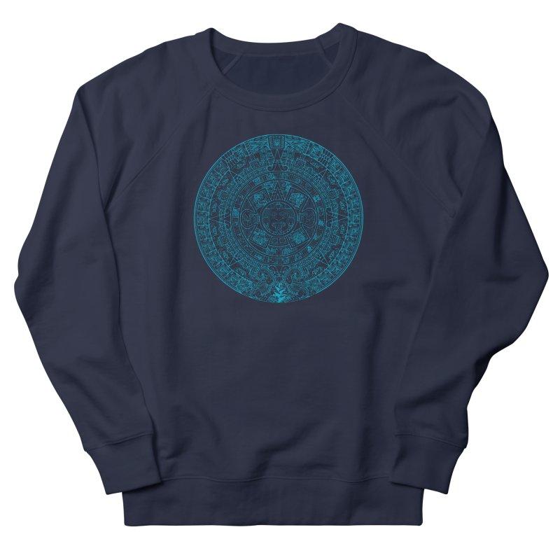 Mayan Calendar Aqua Women's French Terry Sweatshirt by Caribea