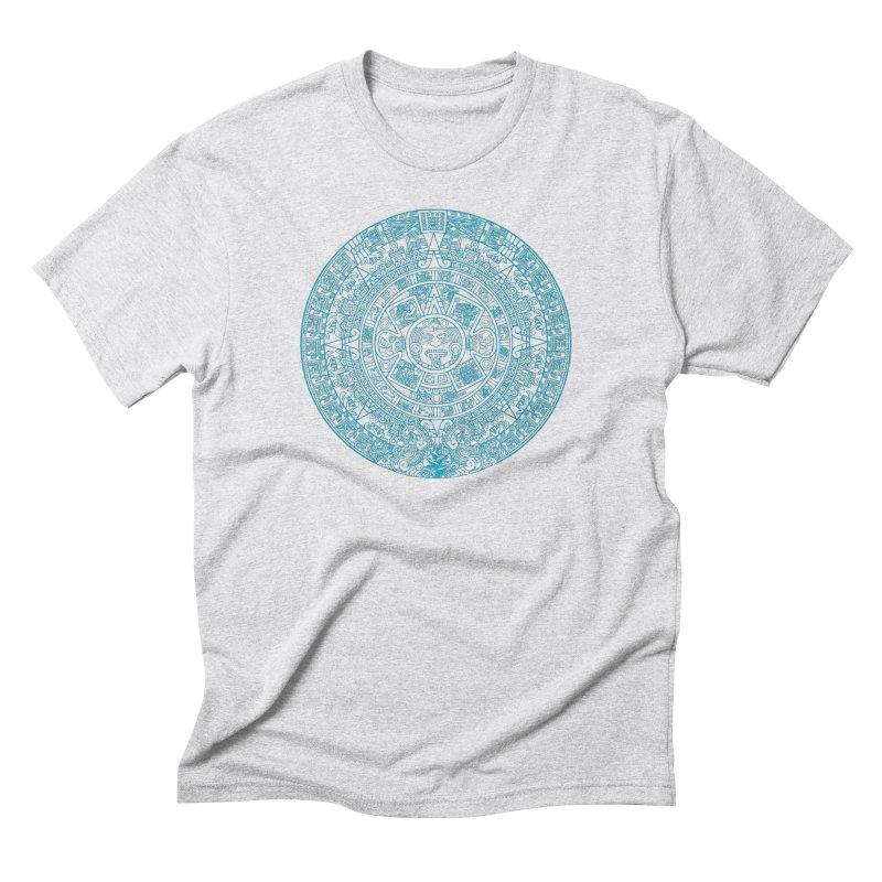 Mayan Calendar Aqua Men's Triblend T-Shirt by Caribea