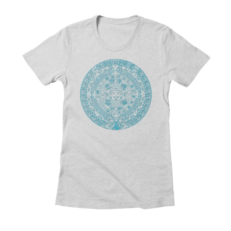 Mayan Calendar Aqua Women's T-Shirt by Caribea