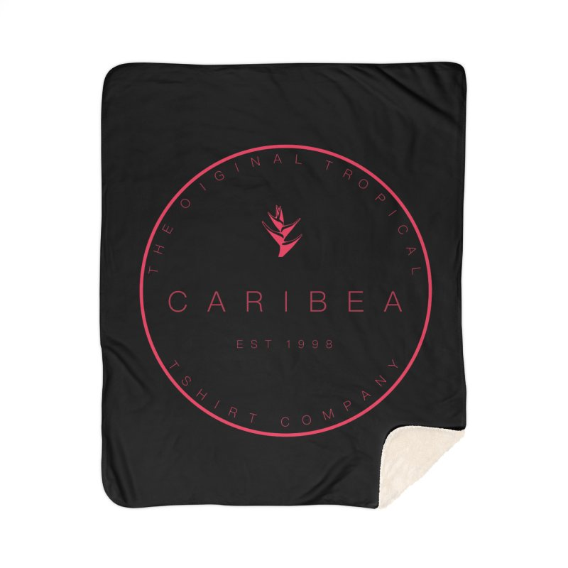 Caribea Red Home Sherpa Blanket Blanket by Caribea
