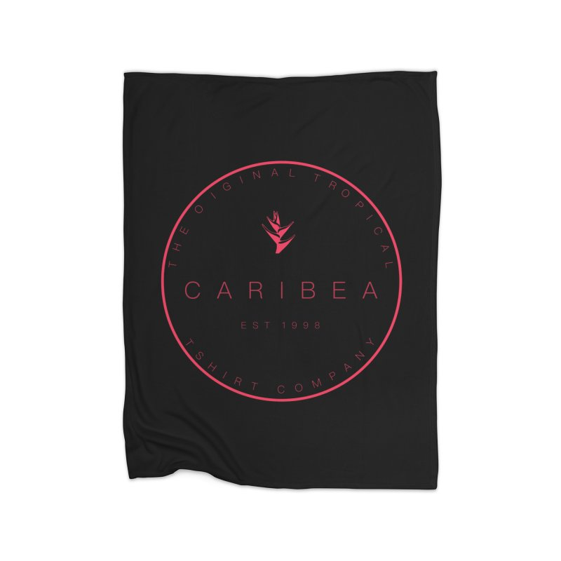 Caribea Red Home Fleece Blanket Blanket by Caribea
