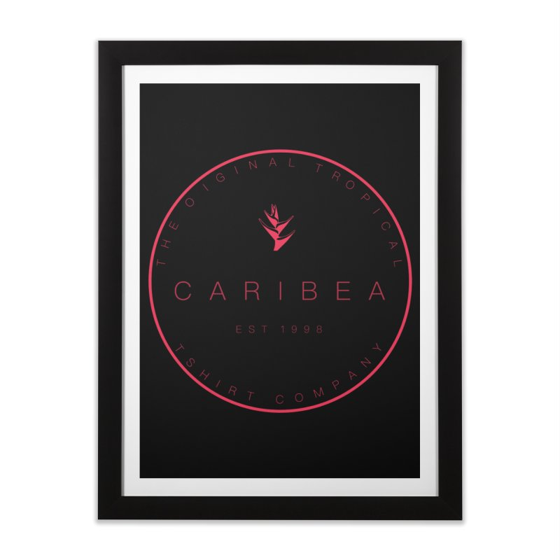 Caribea Red Home Framed Fine Art Print by Caribea