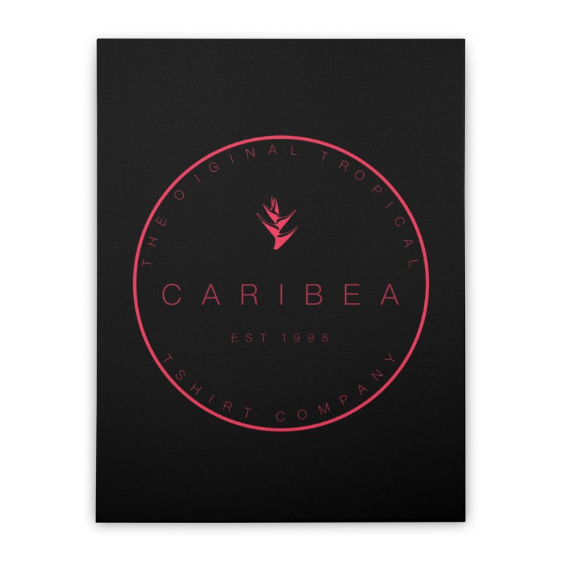 Caribea Red Home Stretched Canvas by Caribea