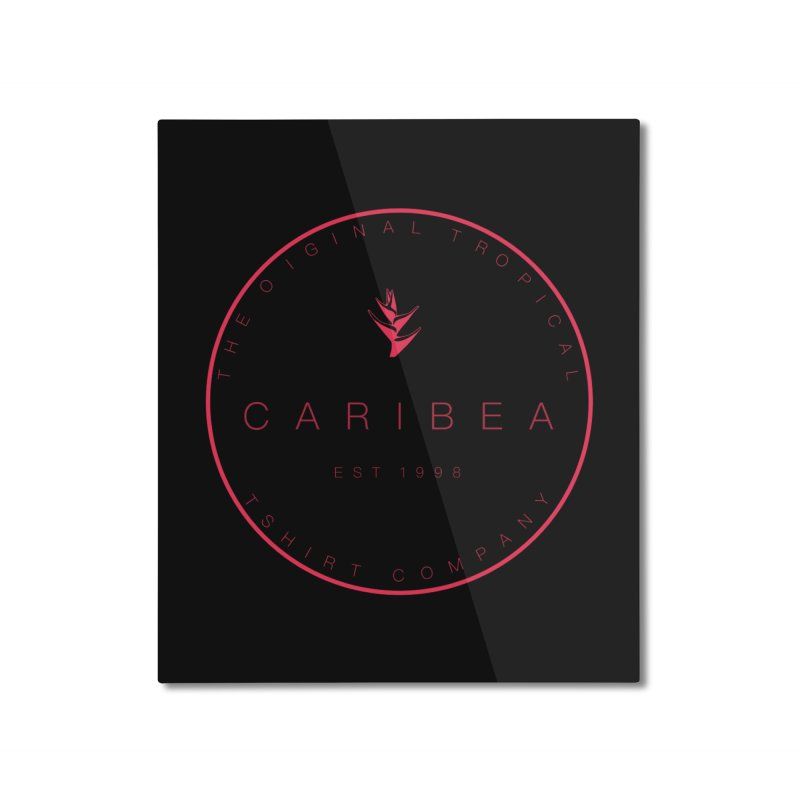 Caribea Red Home Mounted Aluminum Print by Caribea