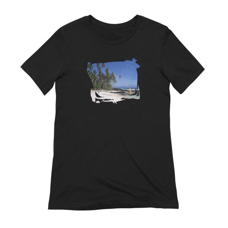 Grunge Beach Women's Extra Soft T-Shirt by Caribea