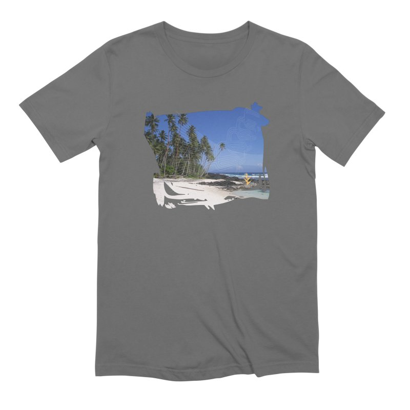 Grunge Beach Men's Extra Soft T-Shirt by Caribea