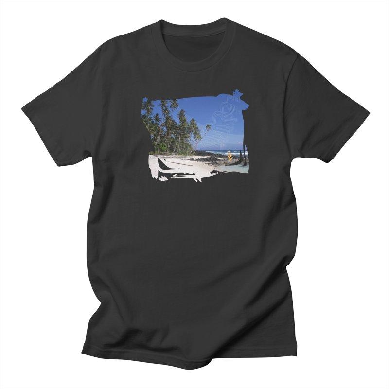 Grunge Beach in Men's Regular T-Shirt Smoke by Caribea