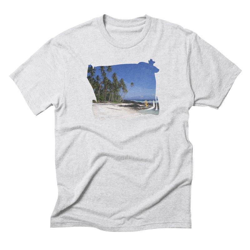 Grunge Beach Men's Triblend T-Shirt by Caribea