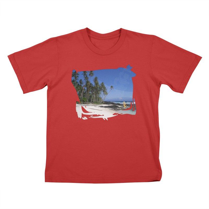 Grunge Beach Kids T-Shirt by Caribea