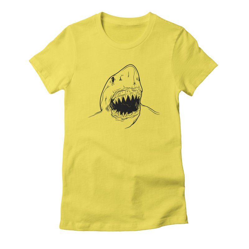 Caribea Shark Women's Fitted T-Shirt by Caribea