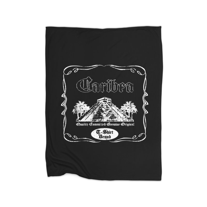 Caribea White Pyramid Home Fleece Blanket Blanket by Caribea