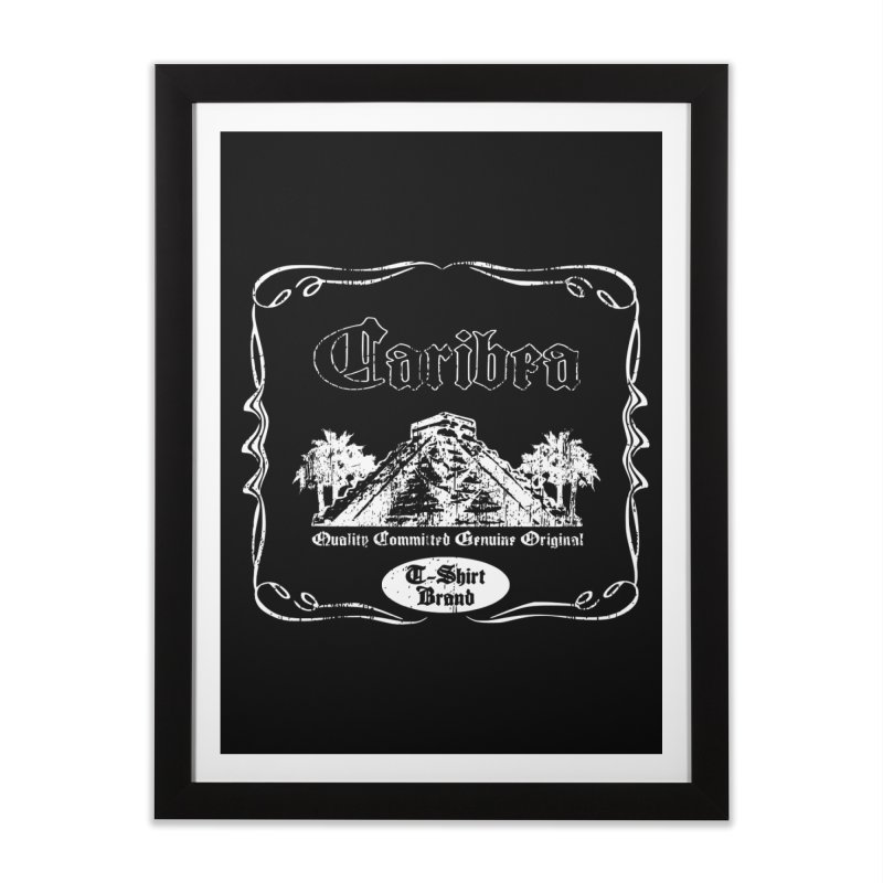 Caribea White Pyramid Home Framed Fine Art Print by Caribea