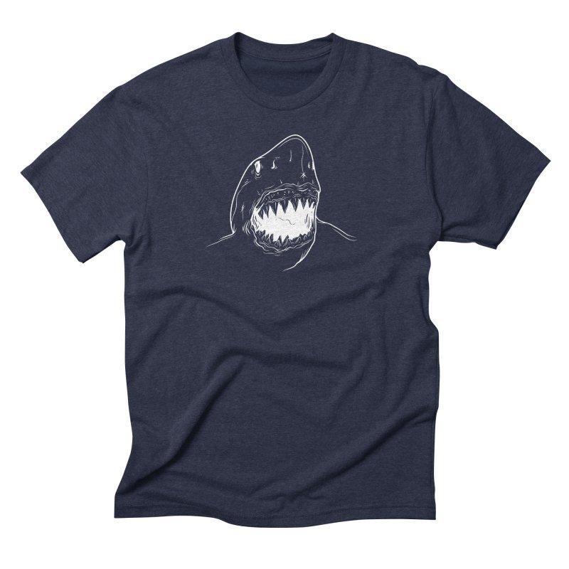 Caribea Great White Shark Men's Triblend T-Shirt by Caribea