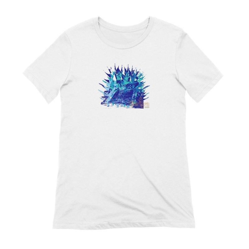 Blue Caribea Heliconia Grunge Women's Extra Soft T-Shirt by Caribea