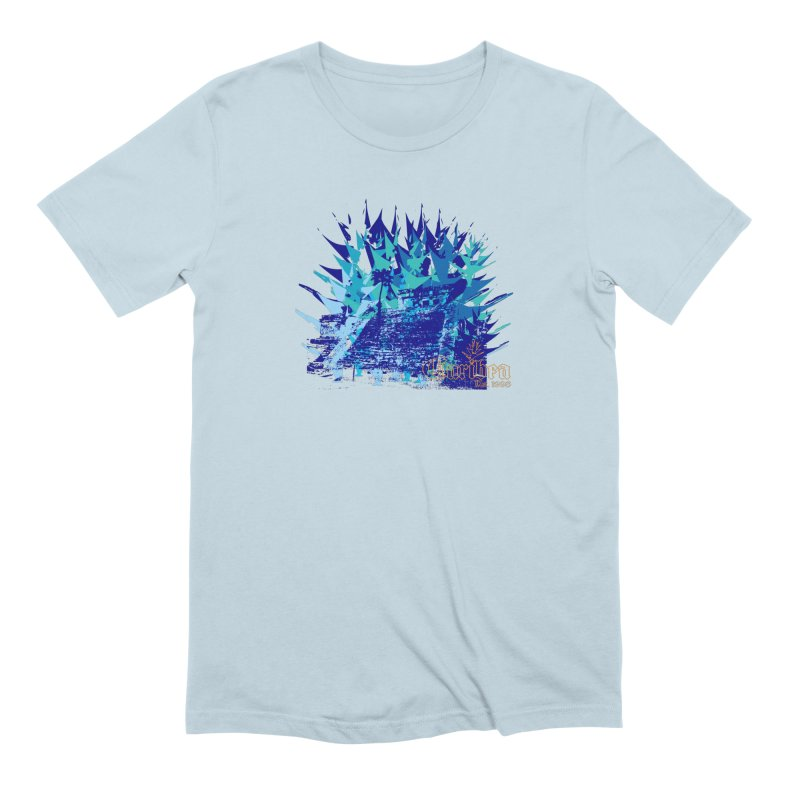 Blue Caribea Heliconia Grunge Men's Extra Soft T-Shirt by Caribea