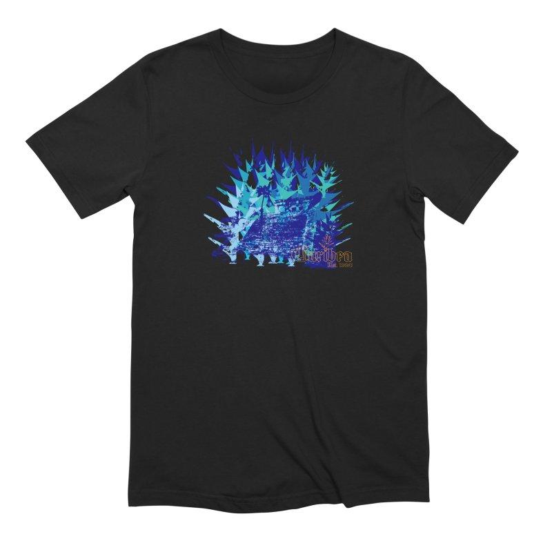 Blue Caribea Heliconia Grunge Men's Extra Soft T-Shirt by Caribea
