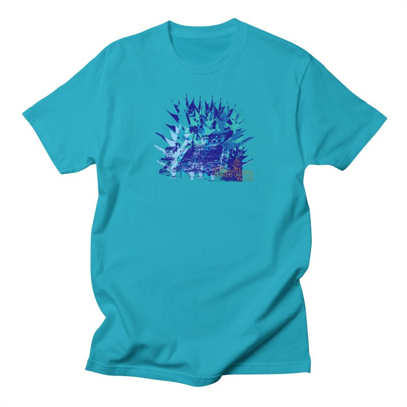 Blue Caribea Heliconia Grunge Women's T-Shirt by Caribea