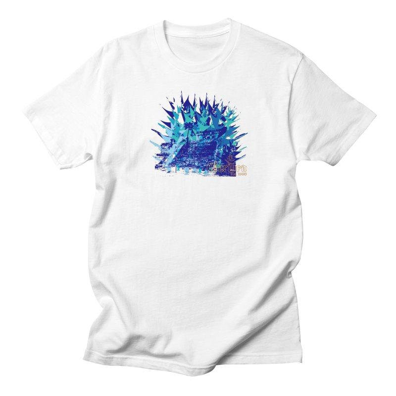 Blue Caribea Heliconia Grunge Women's Regular Unisex T-Shirt by Caribea