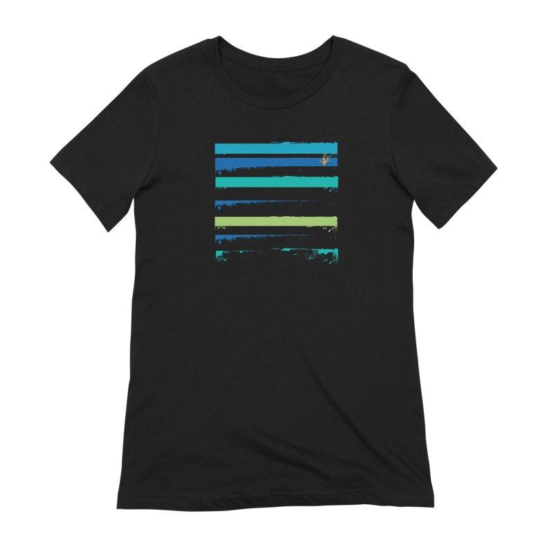 Beach Bars Grunge Women's Extra Soft T-Shirt by Caribea