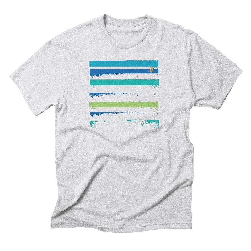 Beach Bars Grunge Men's Triblend T-Shirt by Caribea