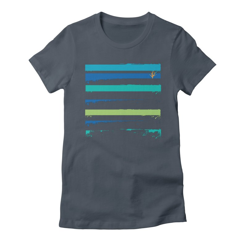 Beach Bars Grunge Women's Fitted T-Shirt by Caribea