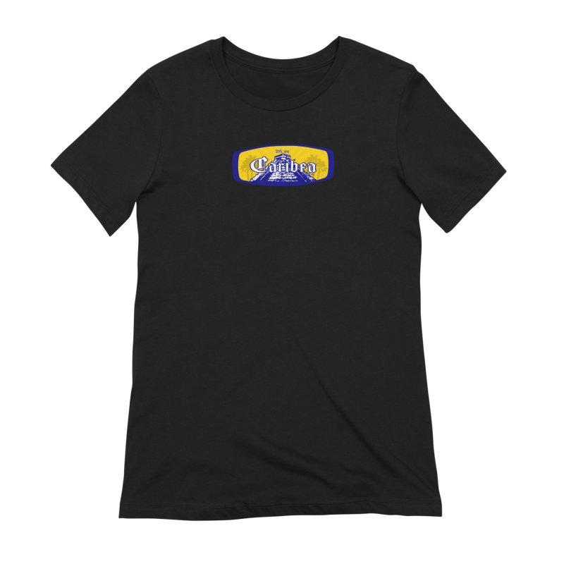 Mayan Sun Rays Blue Women's Extra Soft T-Shirt by Caribea