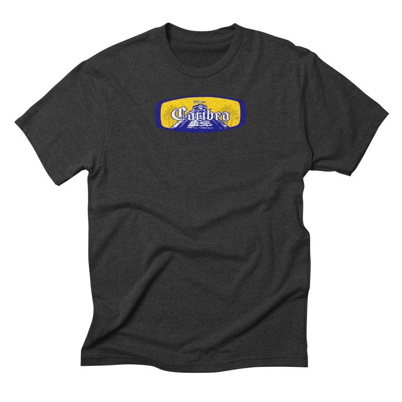 Mayan Sun Rays Blue Men's Triblend T-Shirt by Caribea